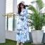 ชุดเดรสเกาหลี พร้อมส่ง Maxi Dress ลายดอก thumbnail 5