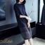 เดรสเกาหลี พร้อมส่ง Dress คอกลม แขนยาว ทรงตรง thumbnail 2