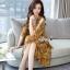 เดรสเกาหลี พร้อมส่ง เดรส พิมพ์ลายดอกเหลือง thumbnail 3