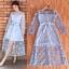 ชุดเดรสเกาหลี พร้อมส่ง Maxi dress เดรสลูกไม้ thumbnail 1
