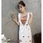 เสื้อผ้าเกาหลี พร้อมส่ง เสื้อกล้ามกระโปรง thumbnail 4