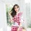 เสื้อผ้าเกาหลีพร้อมส่ง จั๊มสูทพิมพ์ลายเชิง thumbnail 7