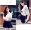 พร้อมส่ง เสื้อแฟชั่น เสื้อเกาหลี เชิ้ตขาวผ้าตาข่าย thumbnail 8