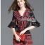 เสื้อผ้าเกาหลี พร้อมส่ง เพลย์สูทผ้าเครปพิมพ์ลายดอกไม้ thumbnail 2