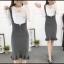 พร้อมส่ง Dress ชุดเดรสไหมพรมเกาหลี thumbnail 3