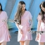 เดรสเกาหลี พร้อมส่ง มินิเดรส สีพาสเทลตกแต่งริบบิ้นสุดหวาน thumbnail 1