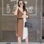 เดรสเกาหลี พร้อมส่ง Long Dress เดรสทูโทน ตัวยา thumbnail 2