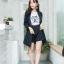 เสื้อผ้าเกาหลี พร้อมส่ง เสื้อคลุมBazer+กางเกงขาสั้น thumbnail 6