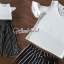 เสื้อผ้าเกาหลี พร้อมส่ง เสื้อสีดำเกงจุด เสื้อสีขาวเกงริ้ว thumbnail 2