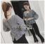 เสื้อเกาหลี พร้อมส่ง เสื้อผ้าลายสก็อตสีขาว-ดำ thumbnail 6