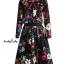 เสื้อผ้าเกาหลี พร้อมส่ง เสื้อ+กระโปรง ลายดอกไม้ thumbnail 10