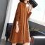 เดรสเกาหลี พร้อมส่ง Dress คอปีน แขนยาว thumbnail 9