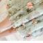 เดรสเกาหลี พร้อมส่ง เดรสสีเขียว พิมพ์ลายดอกกุหลาบ thumbnail 13