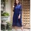 ชุดเดรสเกาหลี พร้อมส่ง Dress ลูกไม้ ลายทางฉลุ thumbnail 10