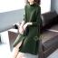 เดรสเกาหลี พร้อมส่ง Dress คอปีน แขนยาว thumbnail 5