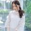 เสื้อเกาหลี พร้อมส่ง เสื้อลูกไม้คอปีน thumbnail 9