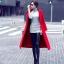 พร้อมส่ง เสื้อโค้ทสีแดงตัวยาว ดูแพง thumbnail 2