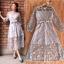 ชุดเดรสเกาหลี พร้อมส่ง Maxi dress เดรสลูกไม้ thumbnail 3