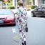 เสื้อผ้าเกาหลี พร้อมส่ง เสื้อเชิ้ตกับกางเกงลายกุหลาบ thumbnail 13
