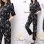 เสื้อผ้าแฟชั่นเกาหลี พร้อมส่ง จั๊มสุท พิมลายช่อดอกไม้ thumbnail 2