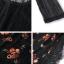 เสื้อผ้าเกาหลี พร้อมส่ง เสื้อผ้าลูกไม้ทอลายสีดำ thumbnail 8