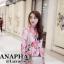 ชุดเดรสเกาหลี พร้อมส่ง แม็กซี่เดรส ลายดอกคอตั้ง thumbnail 5