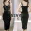 พร้อมส่ง Dress ลุคเรียบหรู ไฮโซ Saxy thumbnail 3