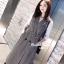 Dress สูทแขนกุดลายชิโนริ พร้อมส่ง thumbnail 1