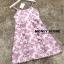 ชุดเดรสเกาหลี พร้อมส่ง mini dress สายเดี่ยว ทรงเข้ารูป thumbnail 2
