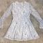 พร้อมส่ง Mini dress ลูกไม้ขาวดำ thumbnail 8