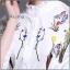 เสื้อเกาหลี พร้อมส่ง เสื้อเชิ้ตคอปีน แขนกระดิ่ง thumbnail 2