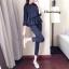 เสื้อผ้าเกาหลี พร้อมส่ง เสื้อลายริ้วกับกางเกงเอวสูง thumbnail 3