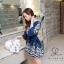 พร้อมส่ง Mini Dress ผ้าฝ้าย ปักลายดอกเชิงลาย thumbnail 6