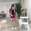 เสื้อผ้าเกาหลี พร้อมส่ง เสื้อคลุมกับกางเกงขาสั้น thumbnail 4