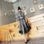 ชุดเดรสเกาหลี พร้อมส่ง เดรสยาว เนื้อผ้าตาข่ายsee through thumbnail 5