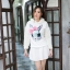 เสื้อเกาหลี พร้อมส่ง จั้มเปอร์ฮู้ด ลายกระต่าย thumbnail 10