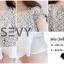 พร้อมส่ง Mini Dress เนื้อผ้าลูกไม้ 3D thumbnail 3
