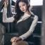 ชุดเดรสเกาหลี ทรงเข้ารูปผ่าหน้า พร้อมส่ง thumbnail 5