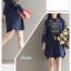 เสื้อเกาหลี พร้อมส่ง เสื้อเชิ้ตตัวยาว แขน 3 ส่วน thumbnail 7
