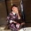 เดรสเกาหลี พร้อมส่ง มินิเดรส ปริ้นลายดอก คอปก thumbnail 4
