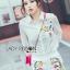 เสือผ้าเกาหลี พร้อมส่ง เสื้อเชิ้ตสีขาวและกางเกงปักลาย thumbnail 8