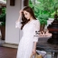 พร้อมส่ง Maxi dress ยาวสีขาว thumbnail 9
