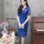 ชุดเดรสเกาหลี พร้อมส่ง Dress ลูกไม้คอวี thumbnail 3
