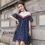 เดรสเกาหลี พร้อมส่ง Mini dress เปิดไหล่ ทรงหลวมๆ thumbnail 2