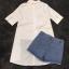 พร้อมส่ง เสื้อเชิ๊ตสีขาวกับกางเกง thumbnail 14