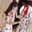 เดรสแฟชั่น ผ้าไหมญี่ปุ่นลายปลา พร้อมส่ง thumbnail 16