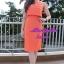 พร้อมส่ง เซทเสื้อ+กระโปรง เสื้อครอปสีส้ม มาพร้อมสร้อยคอ thumbnail 3