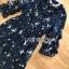 ชุดเดรสเกาหลี พร้อมส่ง เดรสยาว ผ้าชีฟองสีน้ำเงินพิมพ์ลายดอกไม้ thumbnail 10