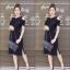 เดรสเกาหลี พร้อมส่ง Sleeveless V Dress เว้าไหล่ thumbnail 6