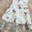 พร้อมส่ง เดรสยาวผ้าไหมแก้วสีขาวพิมพ์ลายผีเสื้อ thumbnail 15